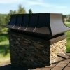 These are chimney caps that is approved to be used on a zero clearance fireplace.